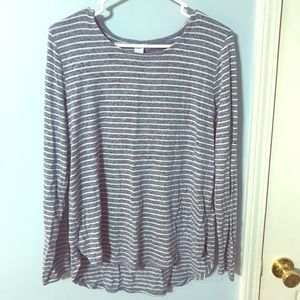 Old navy striped  plush sweater